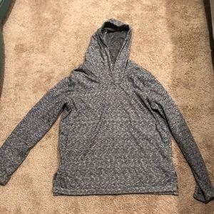 Grey gap hooded thin sweatshirt small